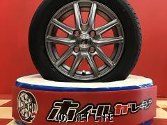 ホイール・タイヤ 13インチ新品ザインSSシルバー4本set新品国産タイヤ
