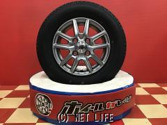 ホイール・タイヤ 12インチ新品ザインSSシルバー4本set新品国産タイヤ