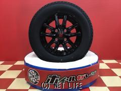 ホイール・タイヤ 12インチ新品ザインSSブラック4本set新品国産タイヤ